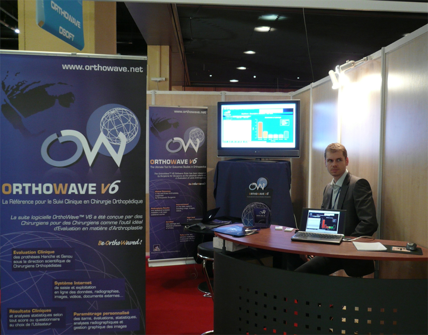 Olivier Duriez at Sofcot OrthoWave Booth, Paris, Sofcot 2008